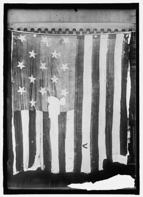 [The Fort McHenry flag in 1914.]