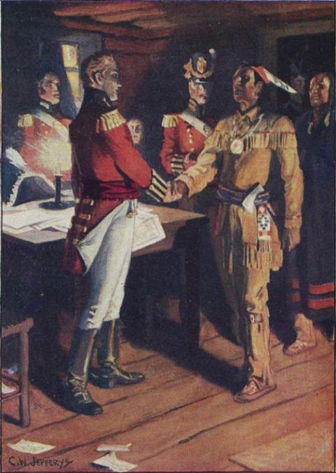 [The Meeting of Brock and Tecumseh]